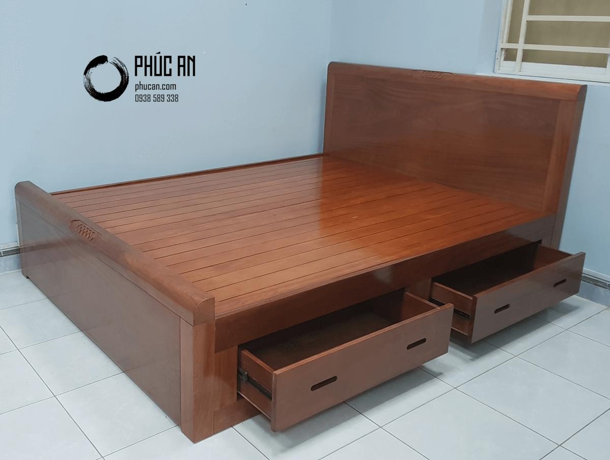Mách bạn đặc điểm nổi bật của giường gỗ có hộc kéo