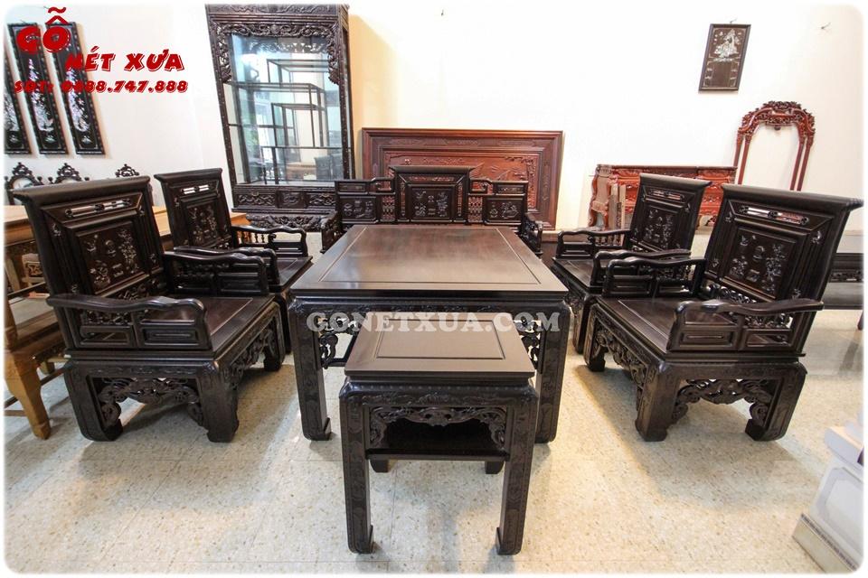 Bật mí mẫu bàn ghế gỗ phòng khách 2019 đẹp mê hồn