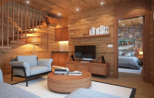 Ốp tường trong nhà bằng gỗ công nghiệp giải nhiệt mùa hè